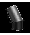 Coude 45° + regard Ferrolux Noir Ø 150mm